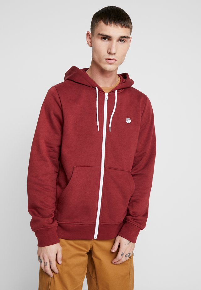 CORNELL CLASSIC - Zip-up hoodie - port