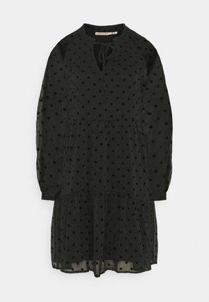DRESS DOTS - Korte jurk - black