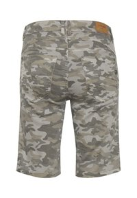 Cream - Denim shorts - grey camouflage - 5