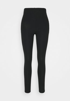 SEAM DETAIL SLIM PANTS - Leggings - black