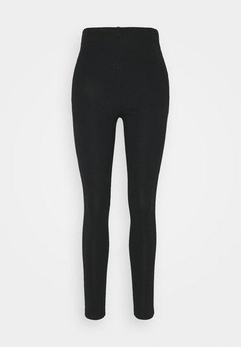SEAM DETAIL SLIM PANTS - Leggings - Trousers - black