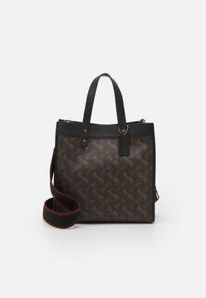 HORSE AND CARRIAGE TOTE - Handbag - black/brown