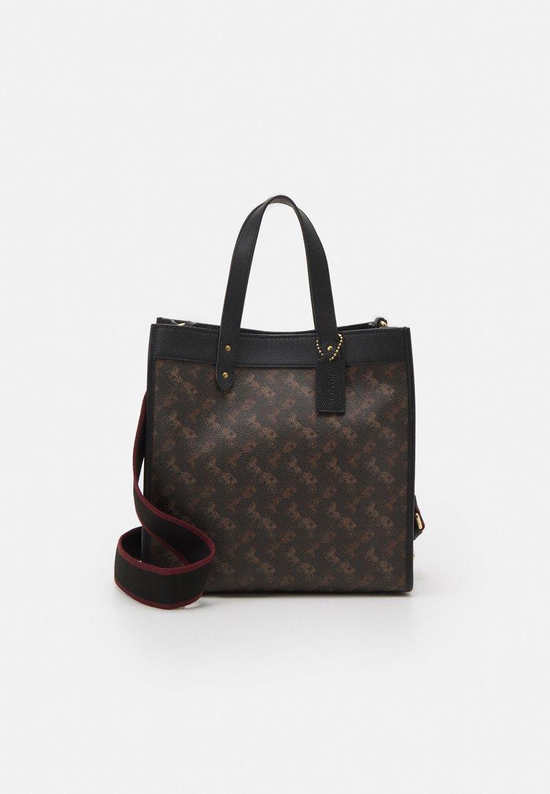 Coach - HORSE AND CARRIAGE TOTE - Handbag - black/brown