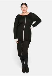Sheego - Pencil skirt - schwarz - 1