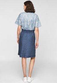 s.Oliver - A-line skirt - faded blue melange - 2