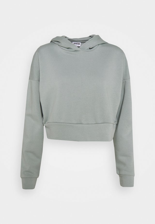 NMLUPA CROP HOOD - Sweatshirt - slate gray