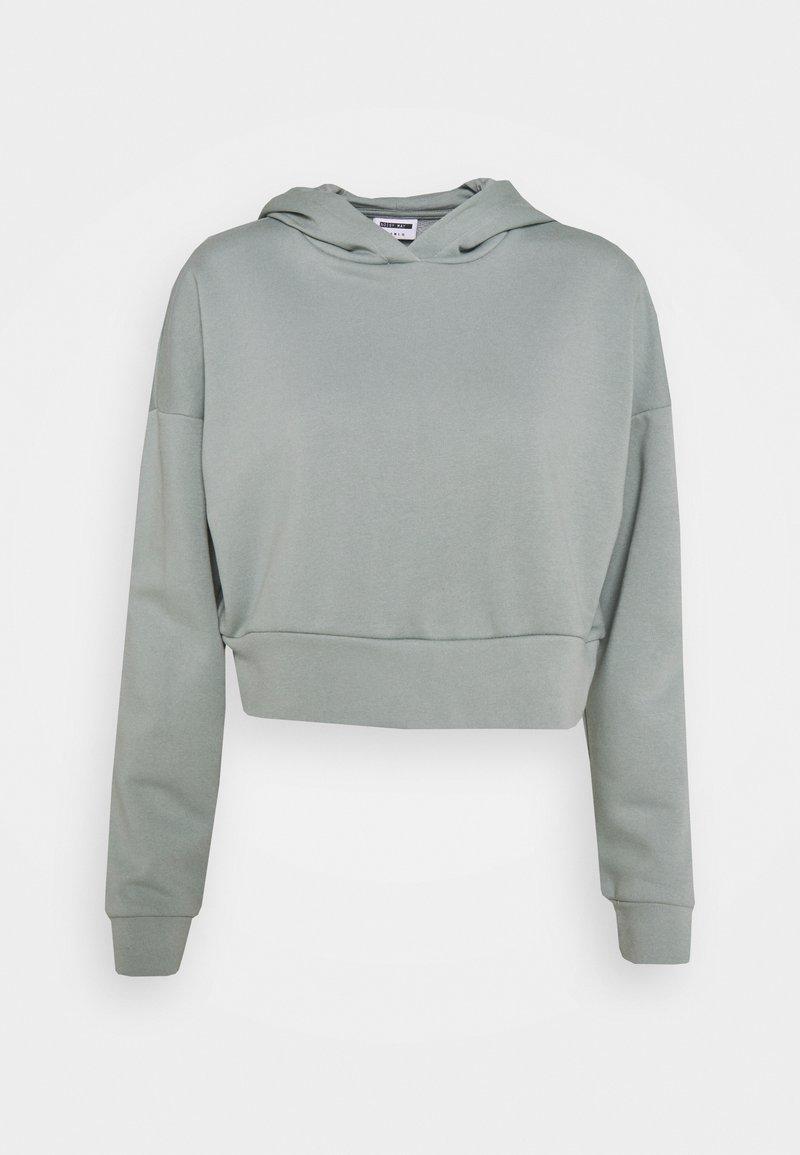 Noisy May Petite - NMLUPA CROP HOOD - Sweatshirt - slate gray