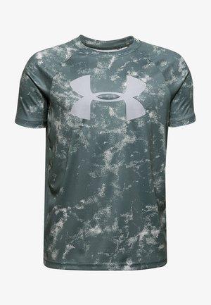 TECH BIG LOGO PRINTED  - Print T-shirt - lichen blue