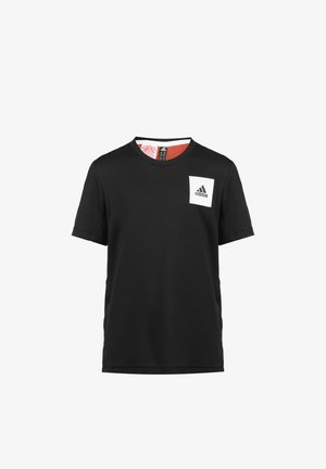 AEROREADY  - Print T-shirt - black / red
