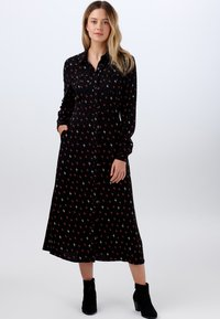 Sugarhill Brighton - SHIRT SERENA AUTUMN STORM - Shirt dress - black - 0