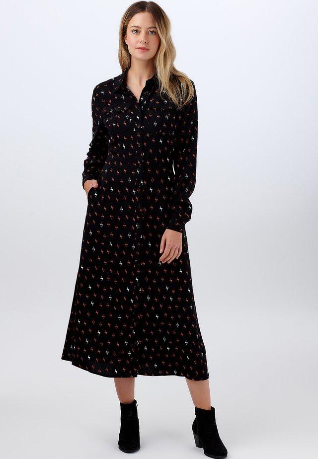 SHIRT SERENA AUTUMN STORM - Robe chemise - black