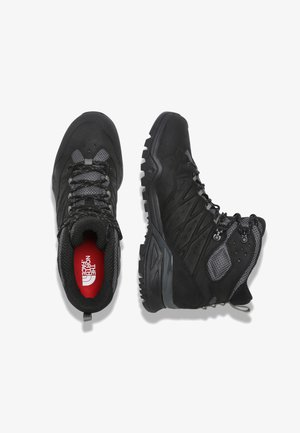 M HEDGEHOG HIKE II MID WP - Lace-up ankle boots - tnf black/graphite grey