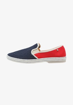 FRANCE - Slip-ons - navy/red