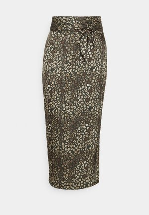 ARTIST PRINT JASPRE SKIRT - Zavinovací sukně - khaki