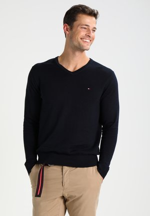 V-NECK  - Sweter - sky captain