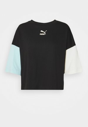 BOYFRIEND TEE - Print T-shirt - black