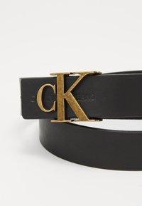 Calvin Klein Jeans - MONO HARDWARE - Pasek - black - 3