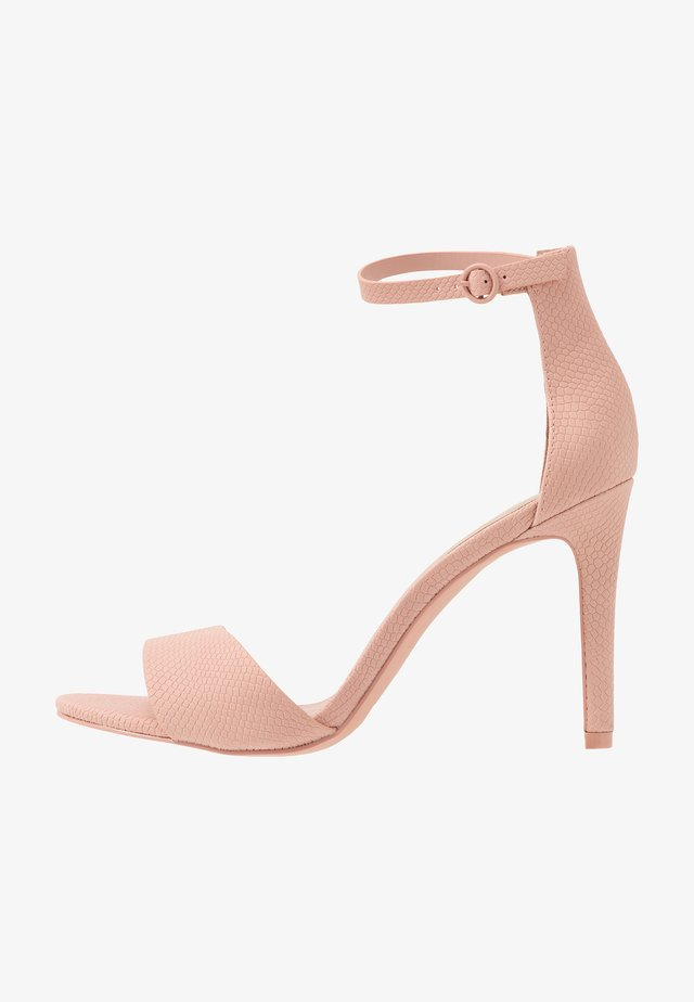 DELLMAR VEGAN - High heeled sandals - light pink