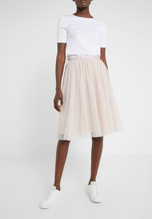 KISSES TULLE MIDI SKIRT - A-line skirt - french rose