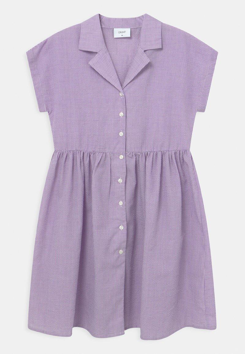 Grunt - JANE CHECK  - Robe chemise - light purple