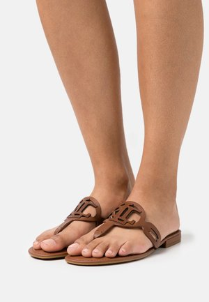 AUDRIE - T-bar sandals - deep saddle tan