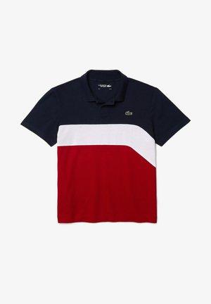 Polo shirt - navy blau / weiß / rot