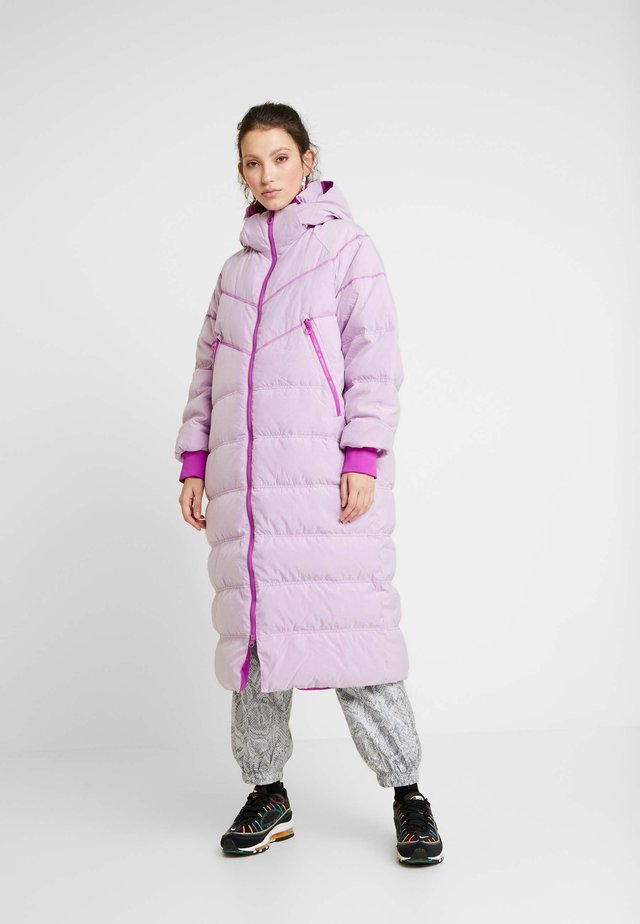 Down coat - vivid purple