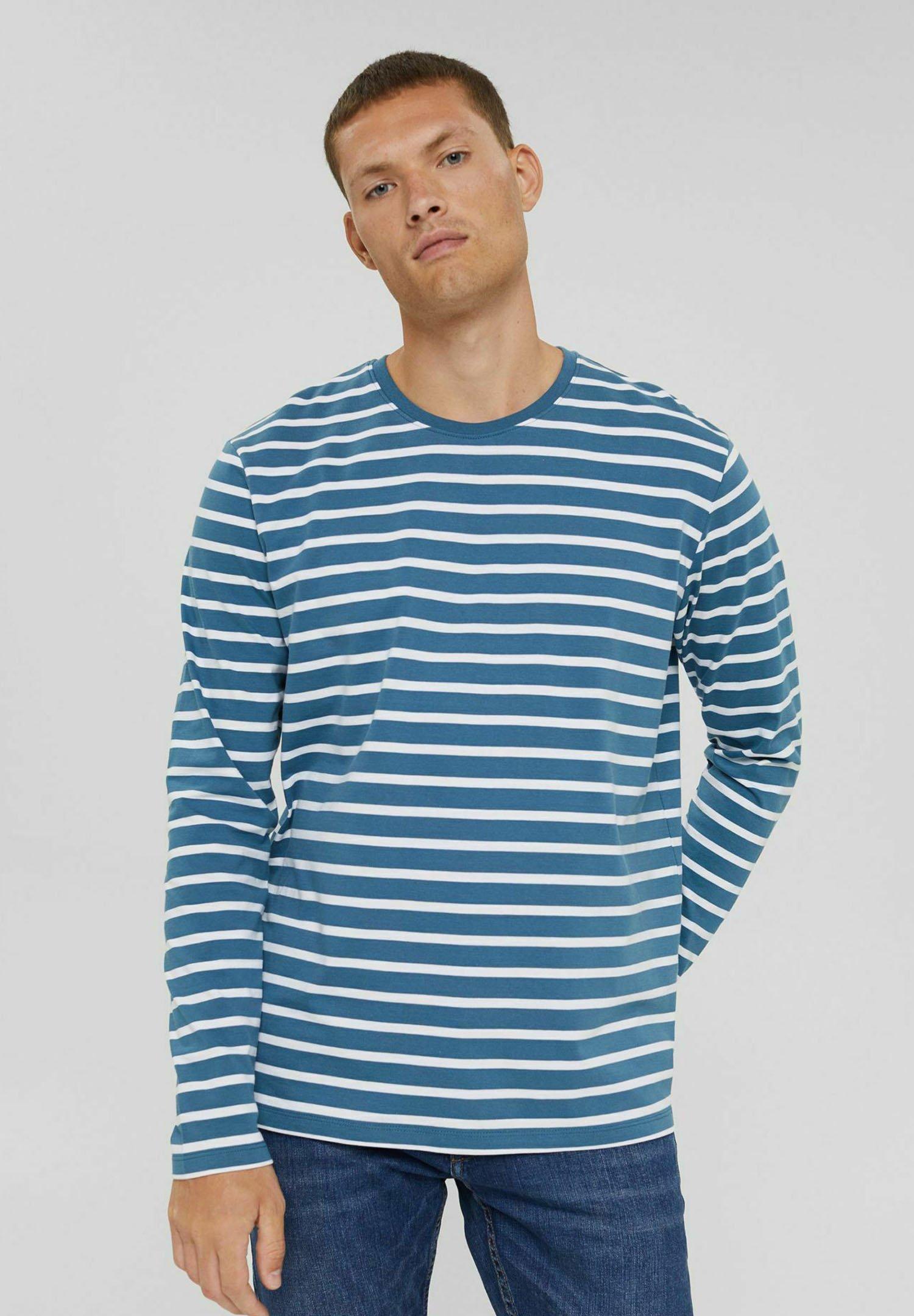Herren MIT STREIFEN - Langarmshirt - petrol blue