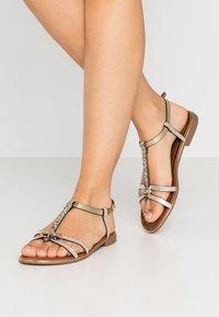 Anna Field - T-bar sandals - gold - 0