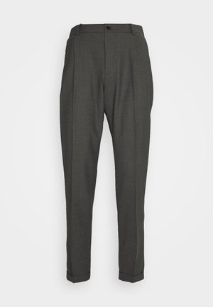 SASHA PLEATED PANTS - Trousers - grey melange