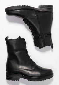Zign - Šněrovací kotníkové boty - black - 3