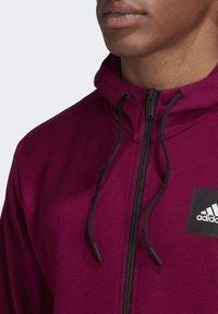 adidas Performance - MUST HAVES FULL-ZIP STADIUM HOODIE - Zip-up hoodie - purple - 4