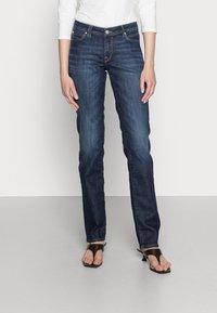 edc by Esprit - STRAIGHT - Straight leg jeans - blue dark wash - 0