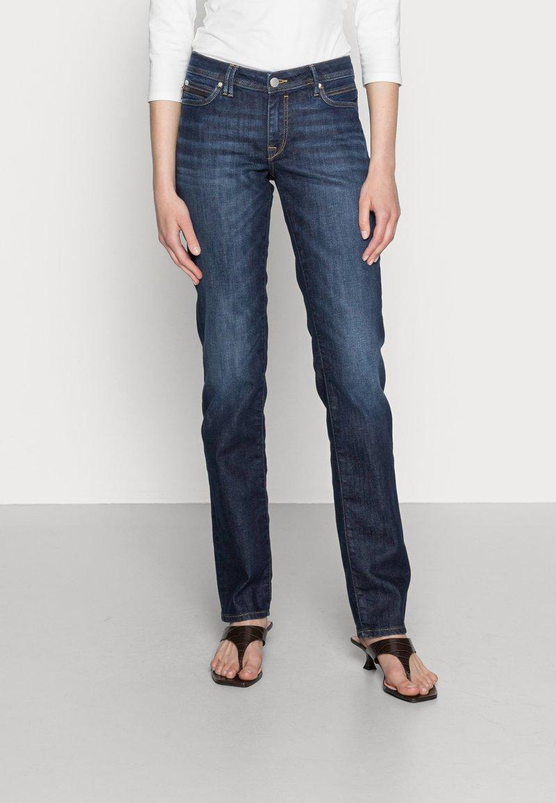 edc by Esprit - STRAIGHT - Straight leg jeans - blue dark wash