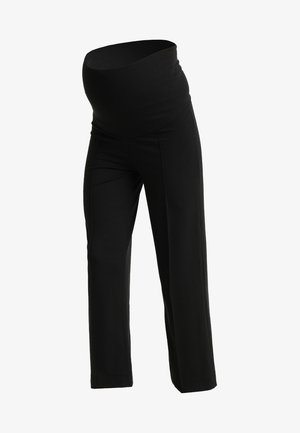 ONCE ON NEVER OFF CROPPED TROUSERS - Bukse - black