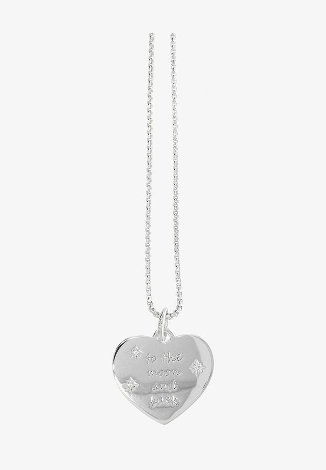 HERZ - TO THE MOON AND BACK - Necklace - silber