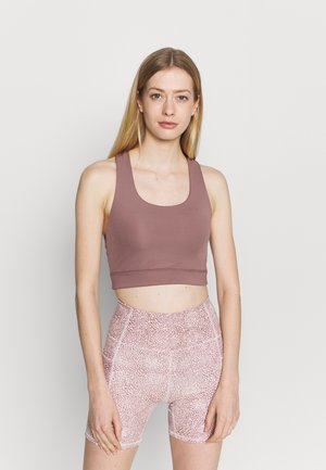 LIFESTYLE LOOP CROSS BACK VESTLETTE - Sujetador deportivo - dusty rose