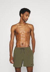 Nike Performance - VOLLEY SHORT LOGO TAPE - Swimming shorts - medium olive - 0