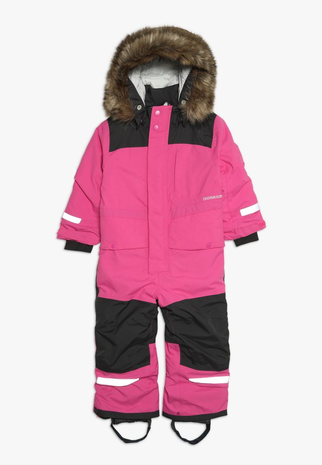 BJÖRNEN KID'S COVERALL - Vinterdress - plastic pink