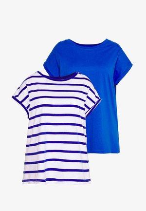 BOYFRIEND PACK 2  - T-shirts med print - white cobalt stripe/cobalt