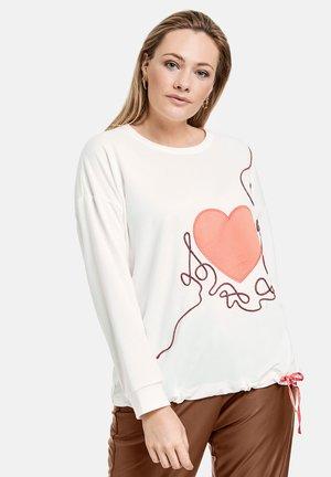 Sweater - offwhite gemustert