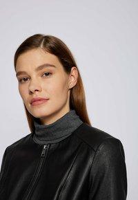 BOSS - SANOA - Leather jacket - black - 3