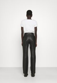2nd Day - TIMEA - Leather trousers - jet black - 2