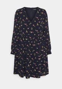 Lauren Ralph Lauren - PRINTED DRESS - Vapaa-ajan mekko - navy/pink - 4