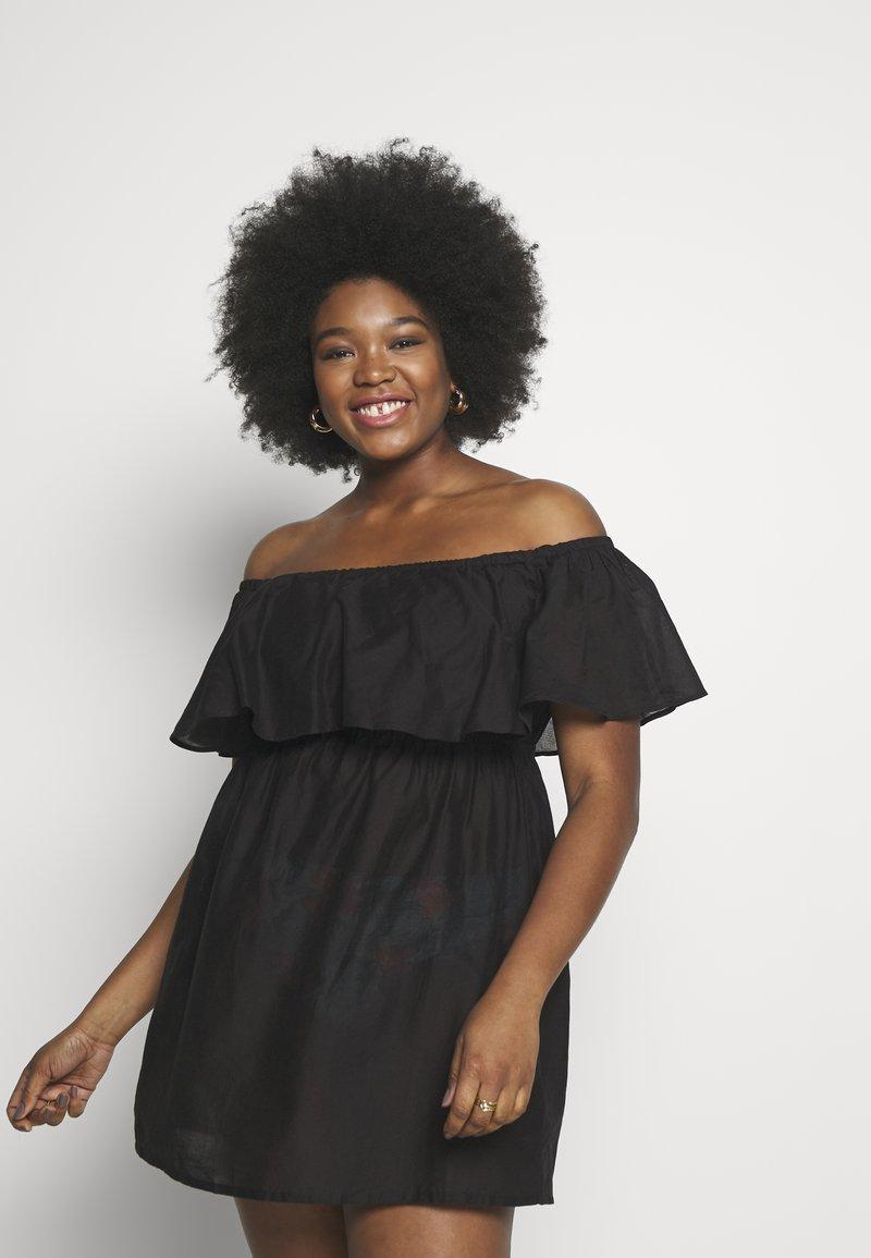 Simply Be - VALUE BARDOT BEACH DRESS - Doplňky na pláž - black