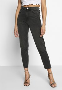 Gina Tricot - DAGNY HIGHWAIST - Relaxed fit jeans - black grey - 0
