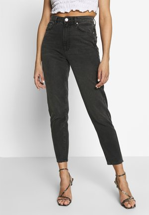 DAGNY HIGHWAIST - Jean boyfriend - black grey