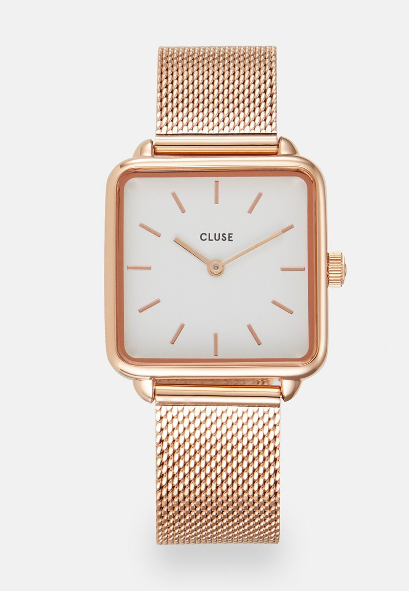 Cluse - LA TETRAGONE - Hodinky - rose gold-coloured/white