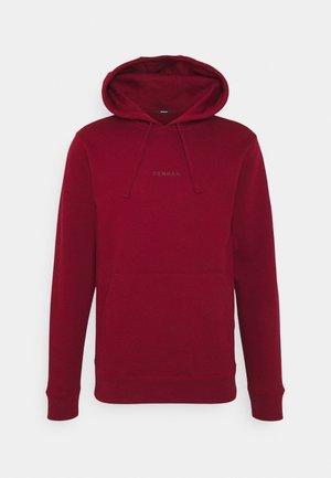 CLOCK POCKET HOODY UNISEX - Sweatshirt - rhubarb red