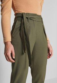 ONLY Petite - ONLNICOLE PAPERBAG ANKEL PANTS - Pantalones - kalamata - 4